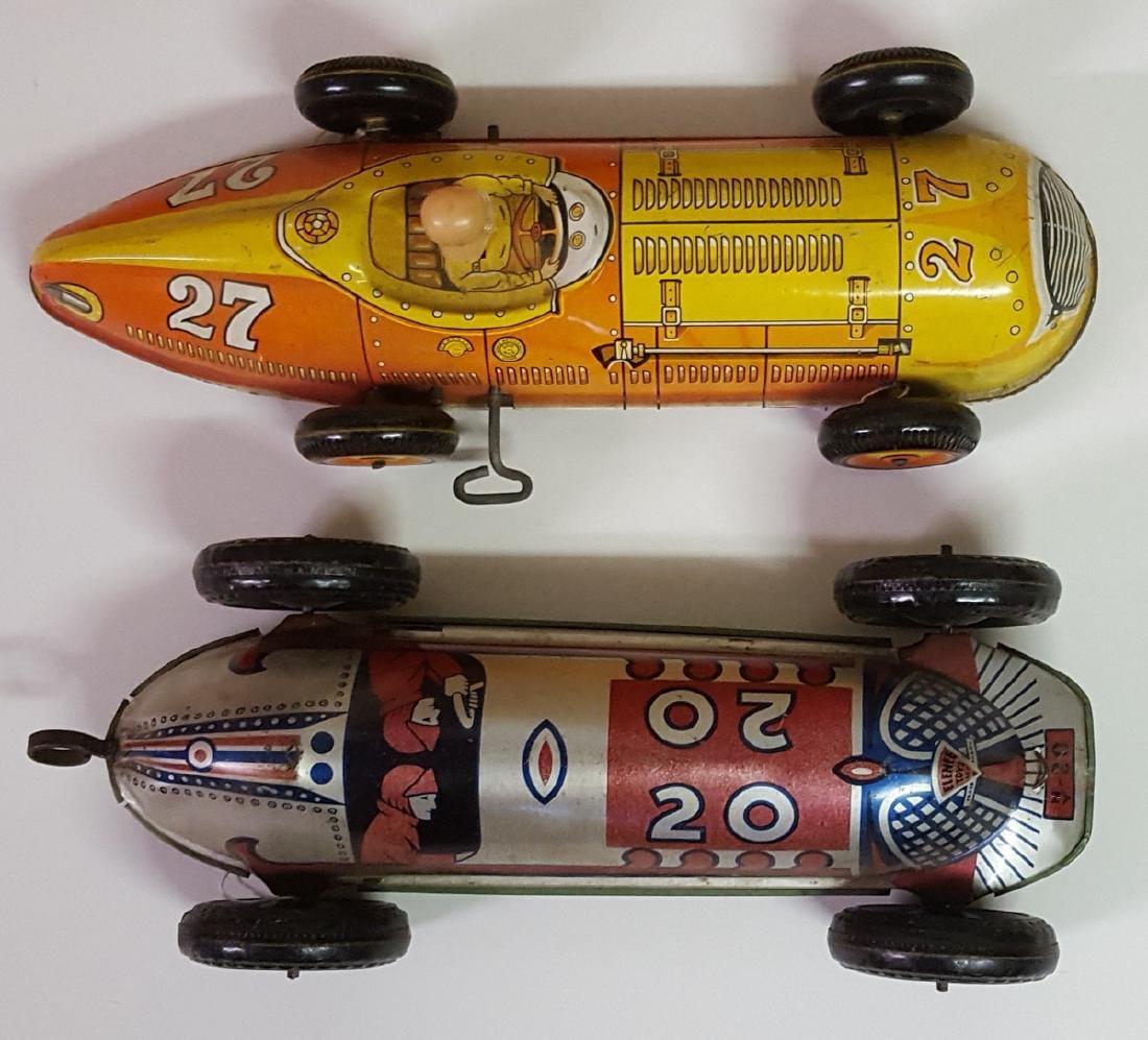 Marx and Elenee tin litho racers toys - 2
