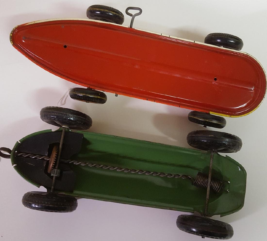 Marx and Elenee tin litho racers toys - 3