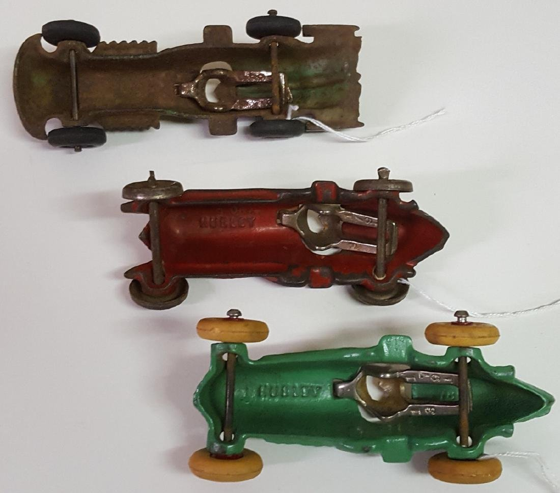 Three toy Hubley cast iron racers - 3