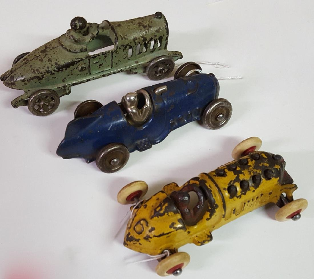 Three toy cast iron racers - 2