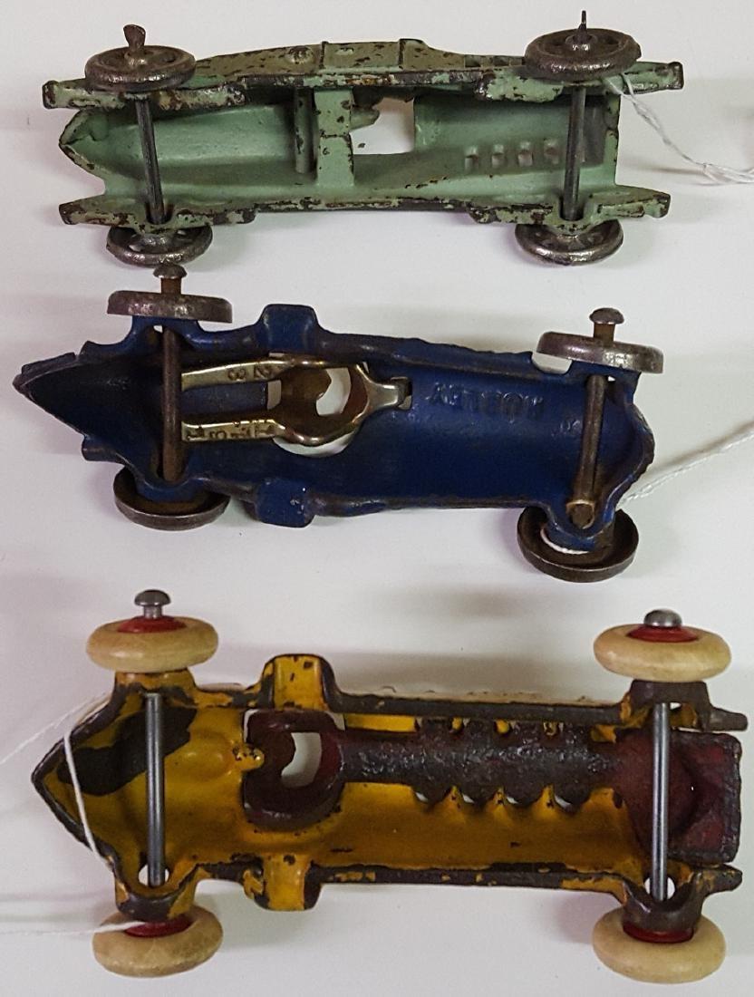 Three toy cast iron racers - 3