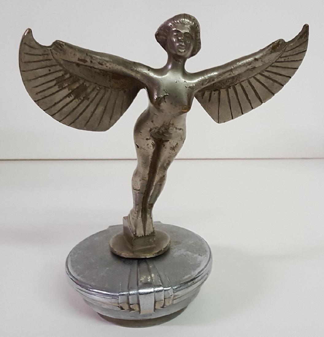 Winged women bronze mascot