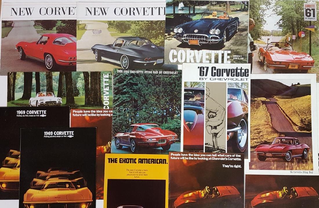 Corvette literature from late 50's - 70's