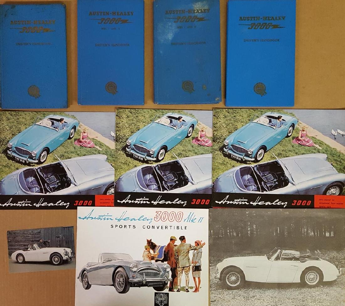 Austin Healey brochures and manuals