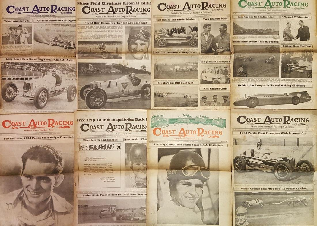 1930's Coast Auto Racing News - 2