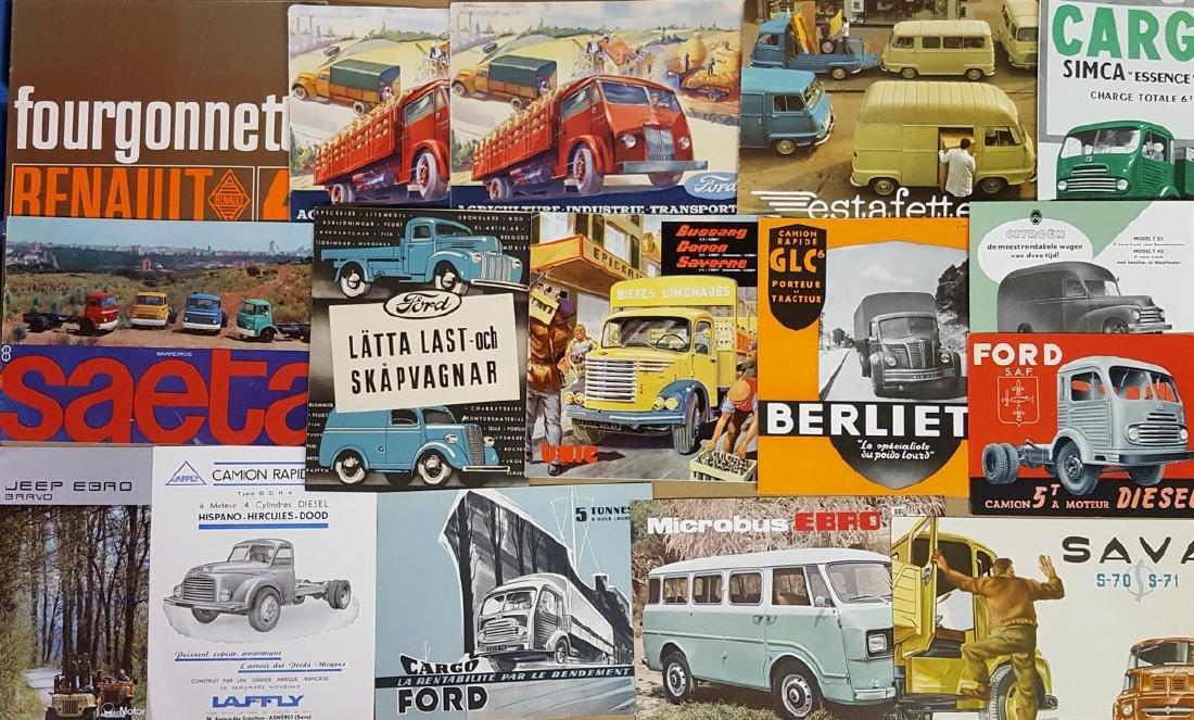 1940's-70's European truck brochures