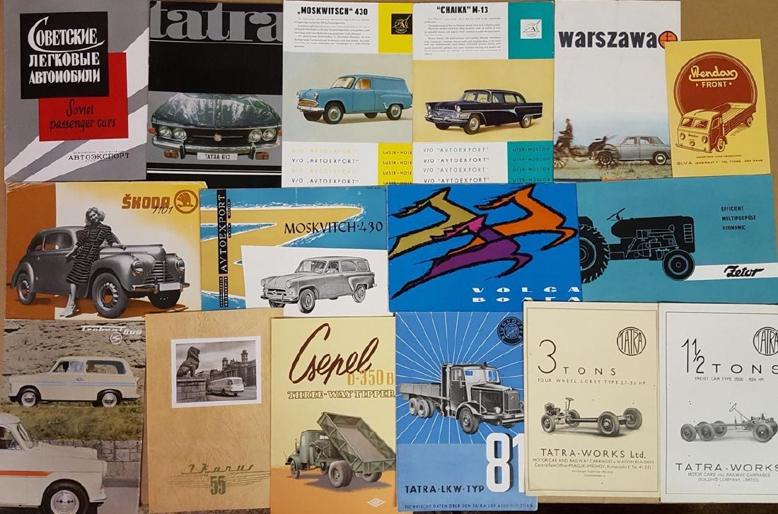 Eastern Euro car, truck brochures