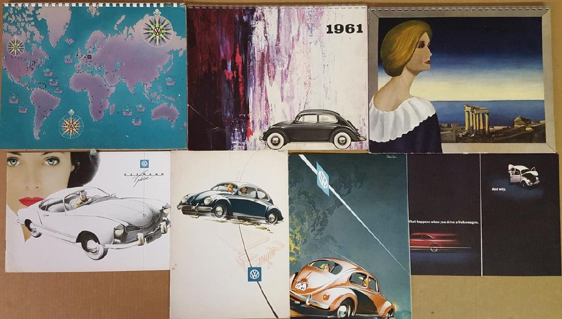 1950's-60's VW calendars and brochures