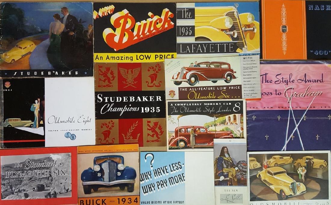 1934, 1935, 1936  US car brochures