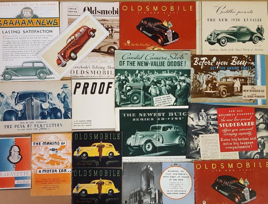1934, 1935, 1936  US car brochures - 2