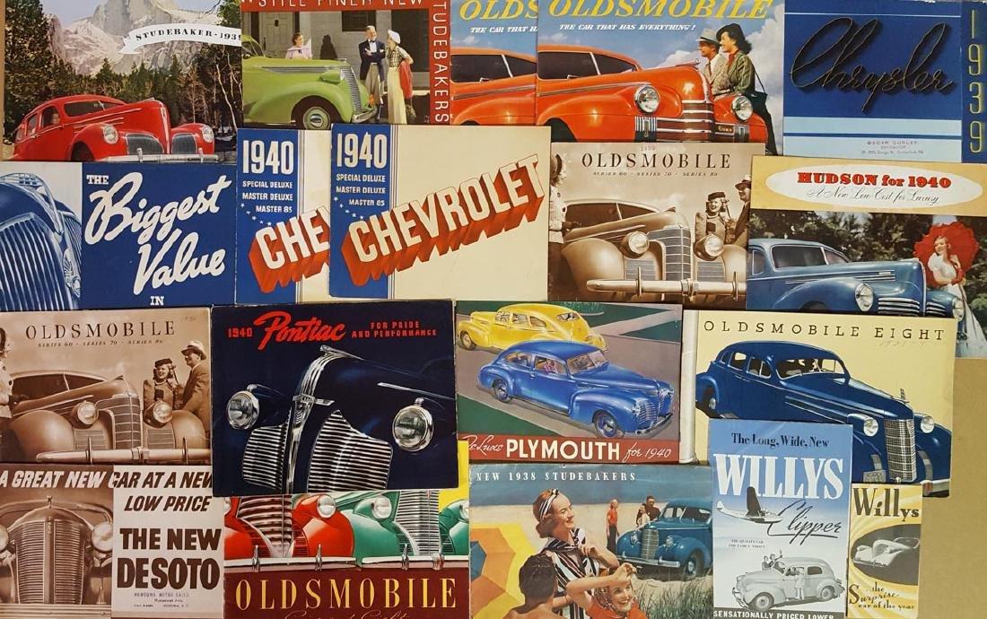 1937 to 1940 brochures