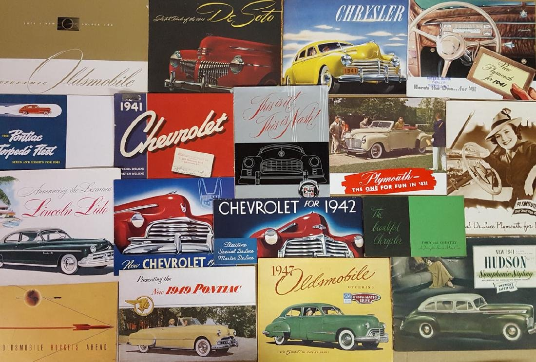 1941 - 1949 US car brochures