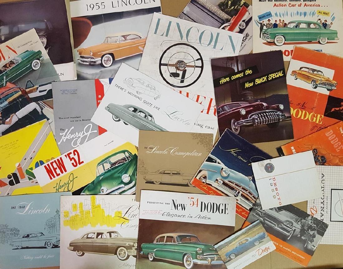 1950's US car brochures