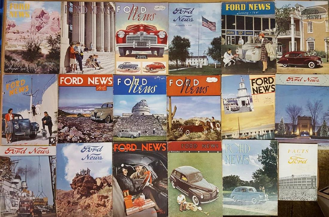 Early 1940's Ford News magazines