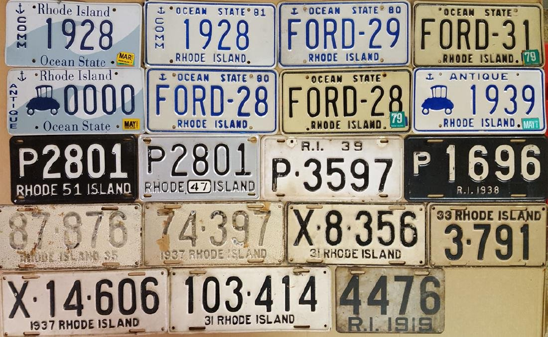 Unique Rhode Island license plates