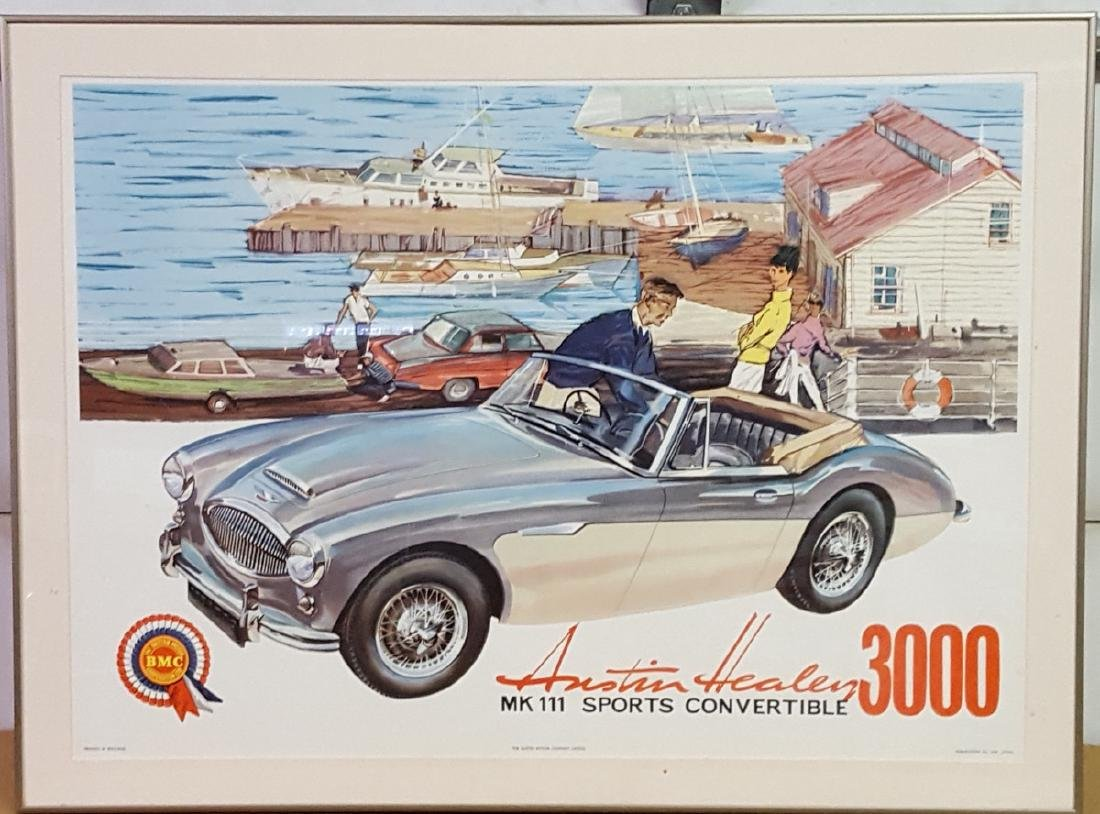 Original Austin Healey BJ 8 poster