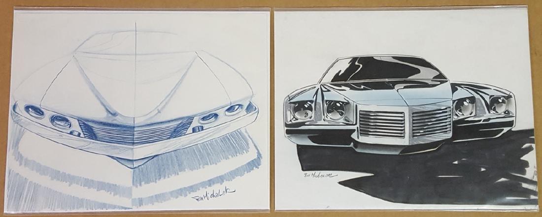 Two ca 1970 Pontiac design drawings