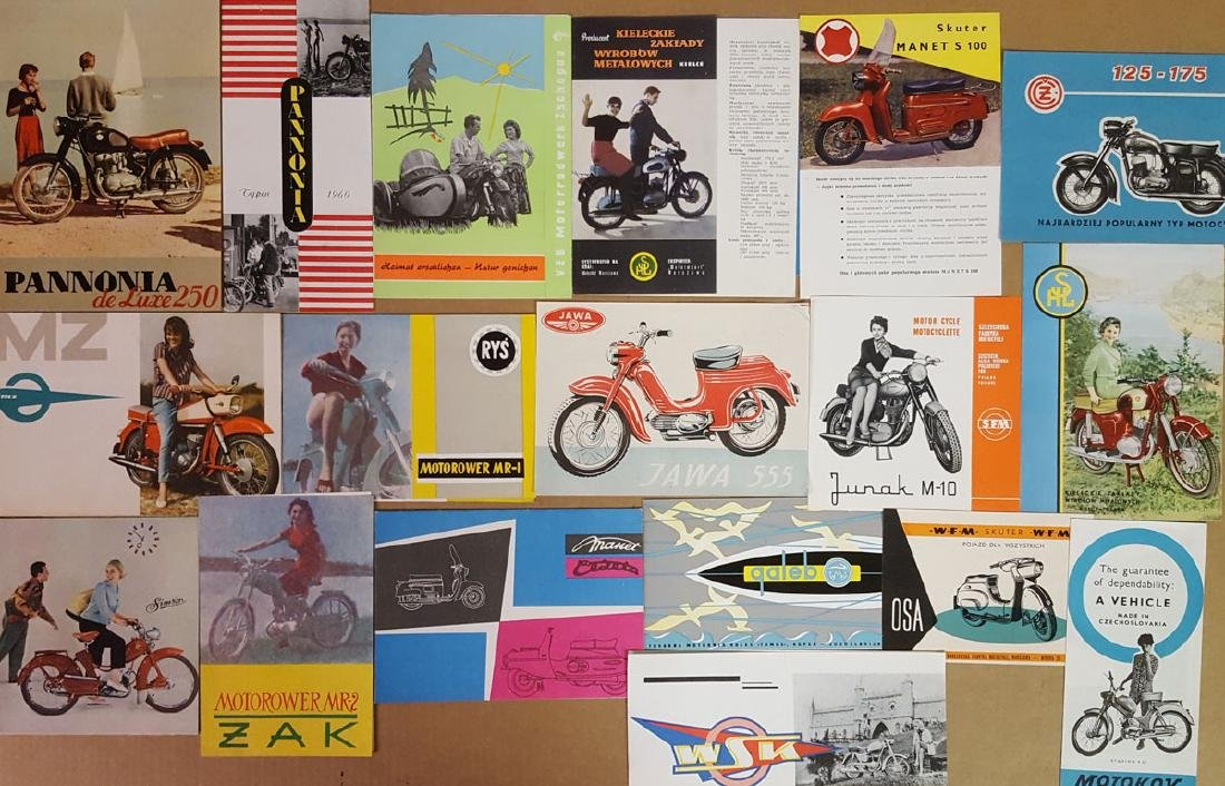 21 Eastern  Euro motorcycle brochures