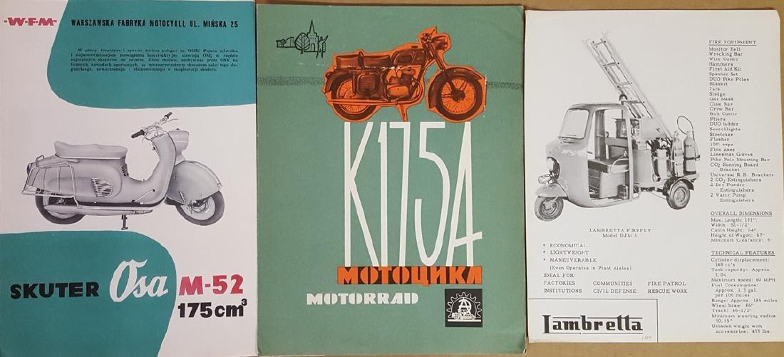 21 Eastern  Euro motorcycle brochures - 2