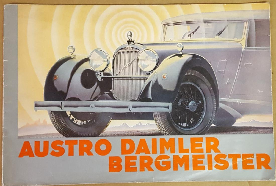 Ca 1930's Austro Diamler color catalog