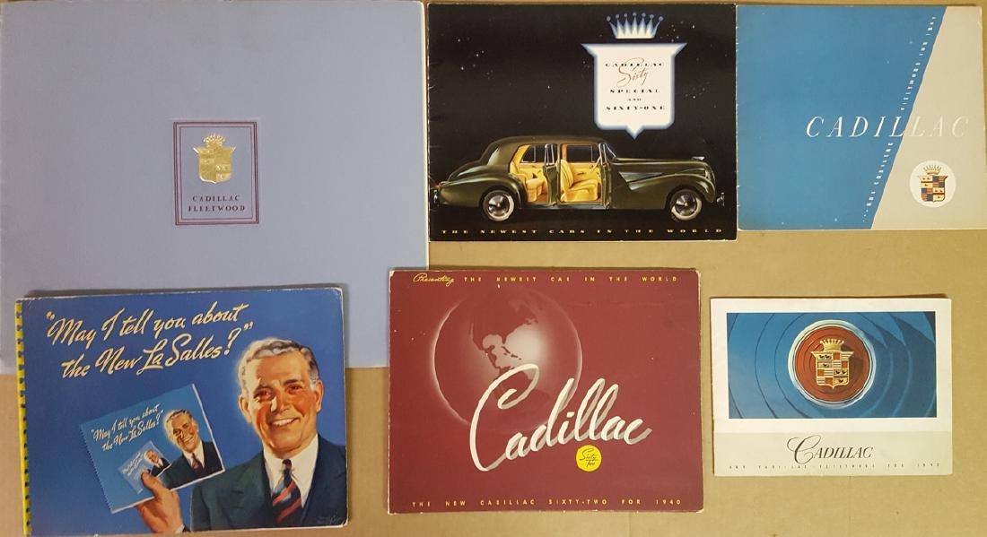Six 1940-42 Cad - LaSalle brochures