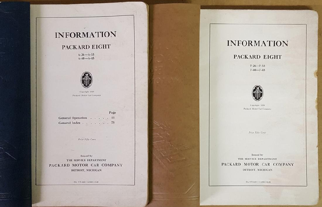 1929 and 1930 Packard manuals - 2