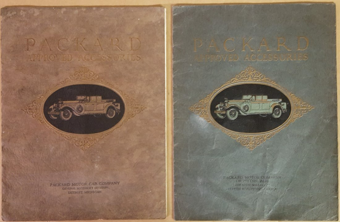 Two 1928 Packard accessory catalogs