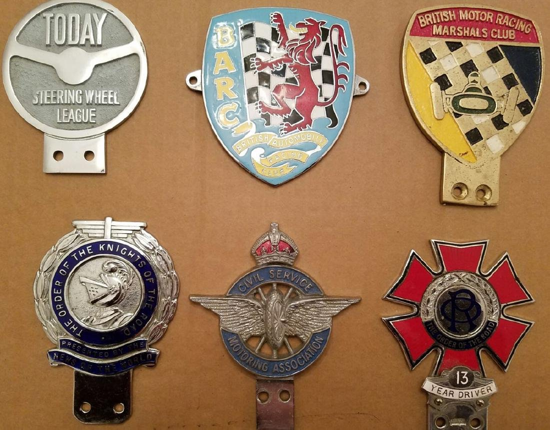 Six British related club badges