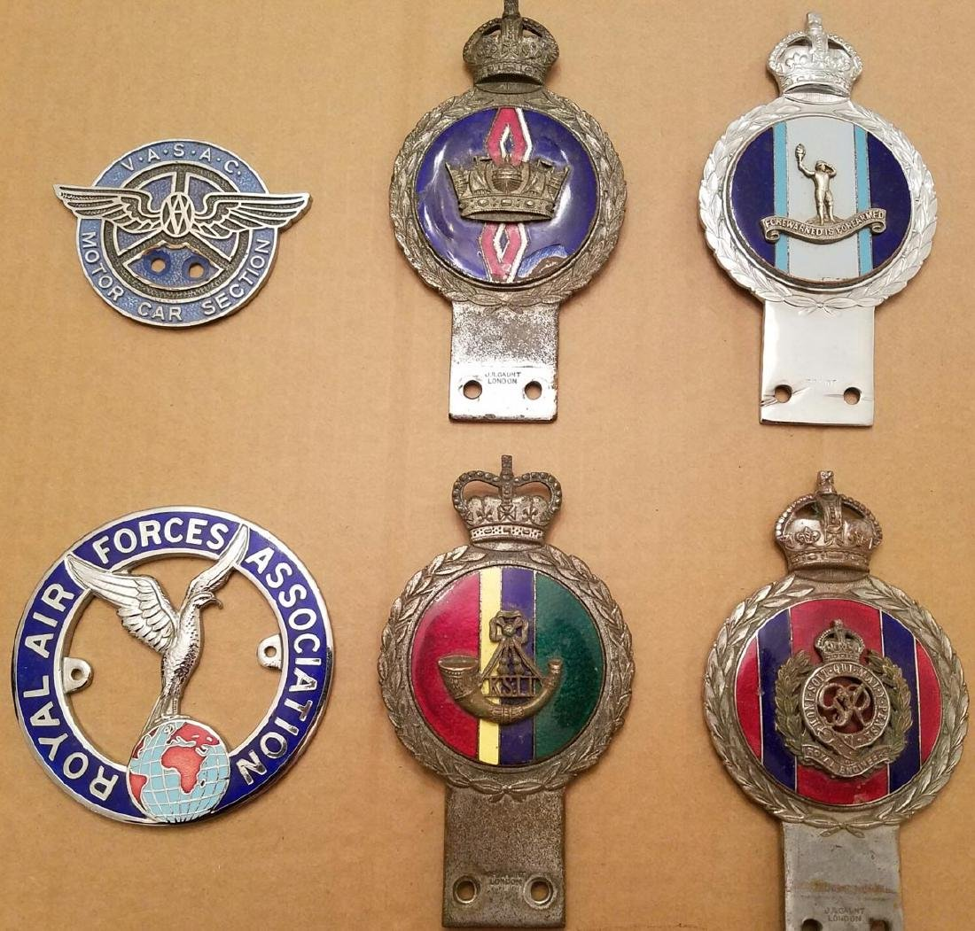 Six British related club badges