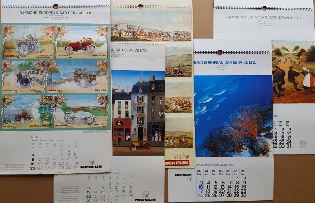 Collection of art type calendars