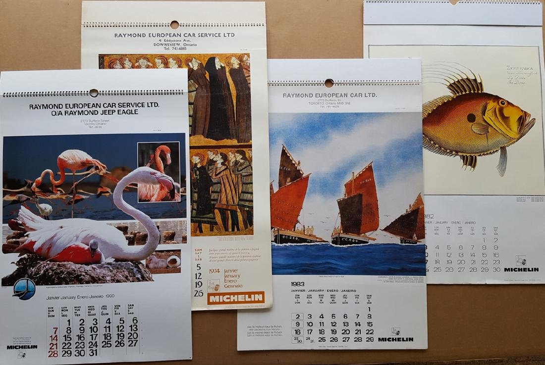 Collection of art type calendars - 2