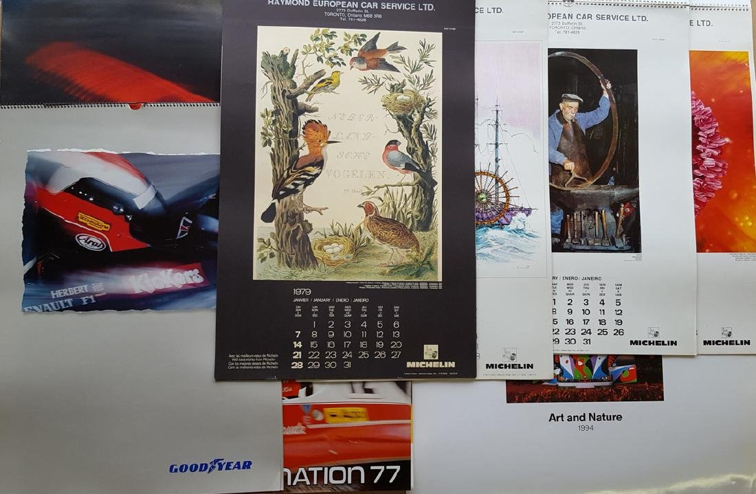 Collection of art type calendars - 3