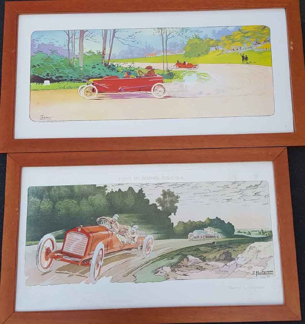 Three repro framed Gamy prints