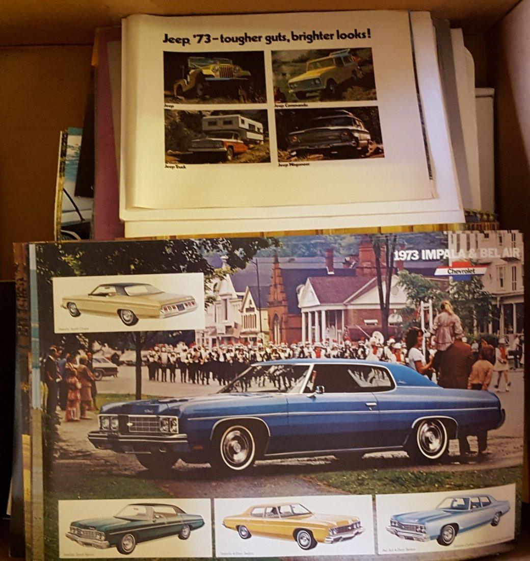 Box of 1970's sales brochures