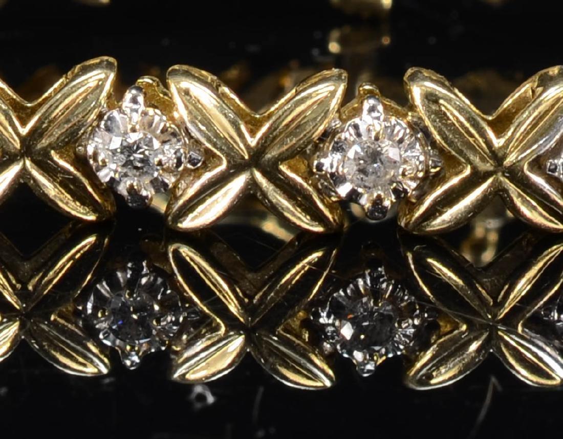 Ladies 14K Diamond Tennis Bracelet - 2