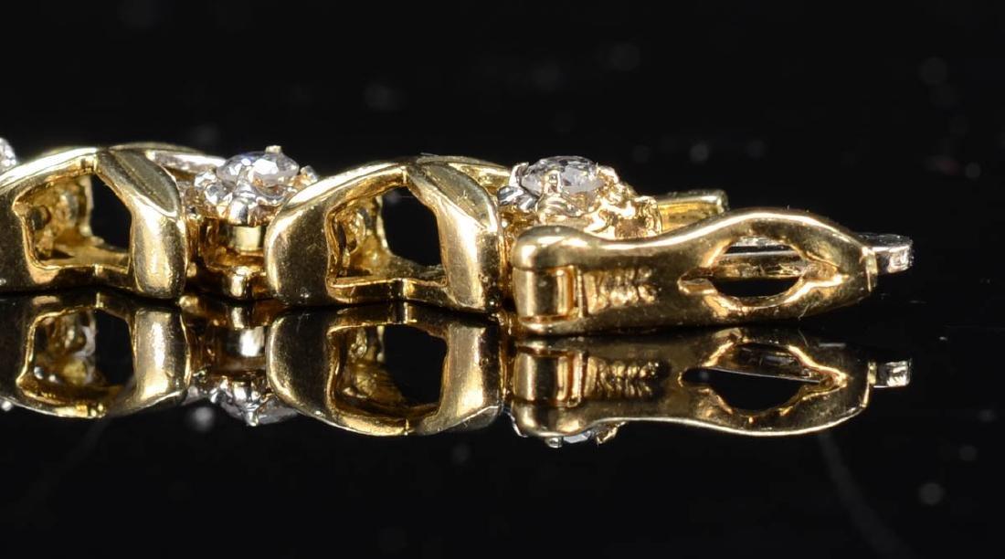 Ladies 14K Diamond Tennis Bracelet - 3