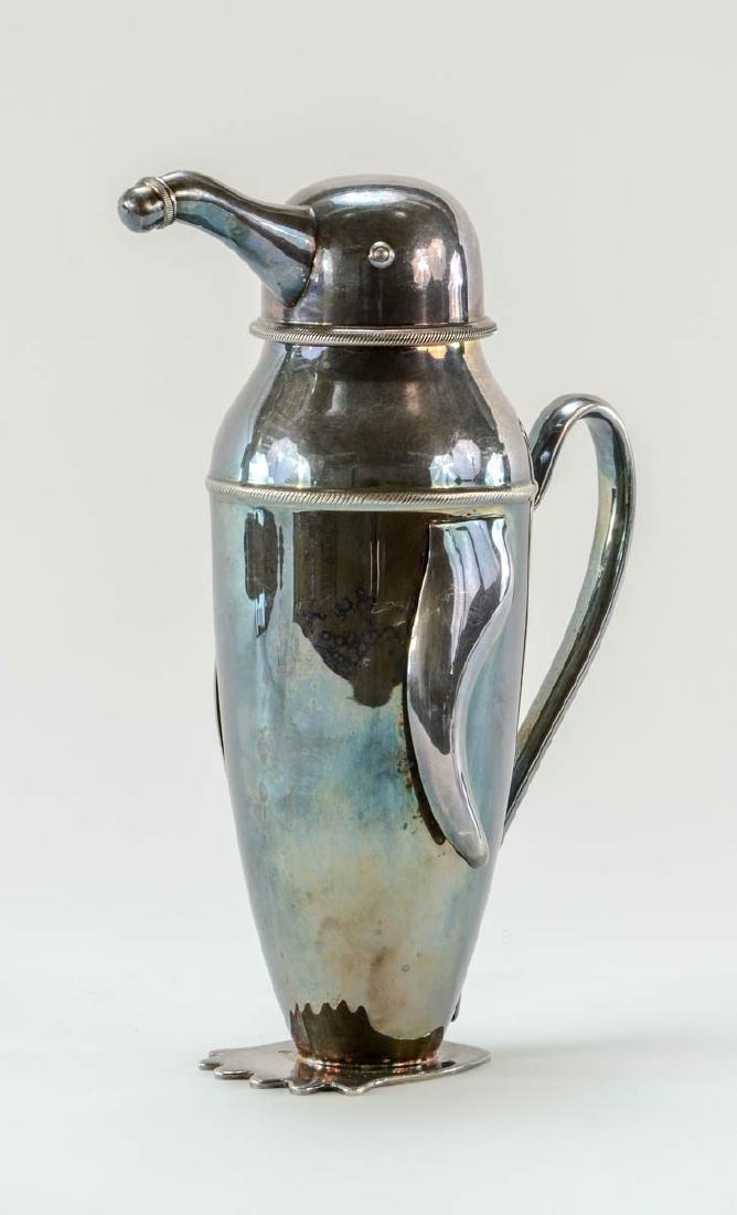 Art Deco Penguin cocktail shaker