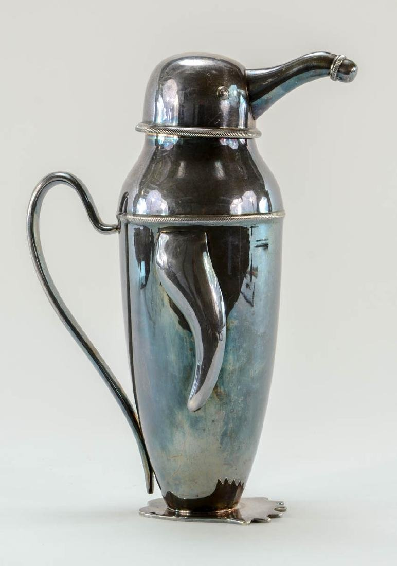 Art Deco Penguin cocktail shaker - 2