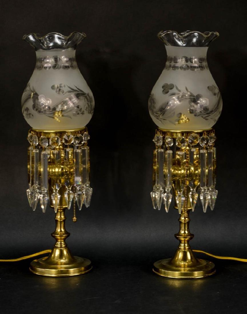 Pair of Handel boudoir lamps