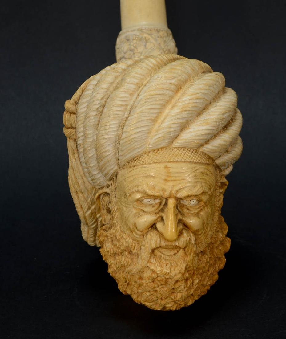 Large Meerschaum Carved Pipe - 3