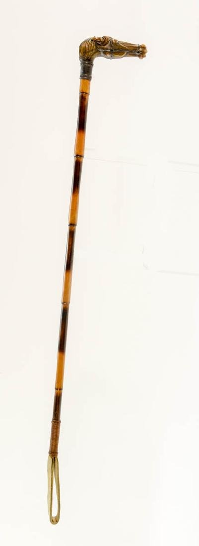 Sterling Mounted Riding Crop - 2