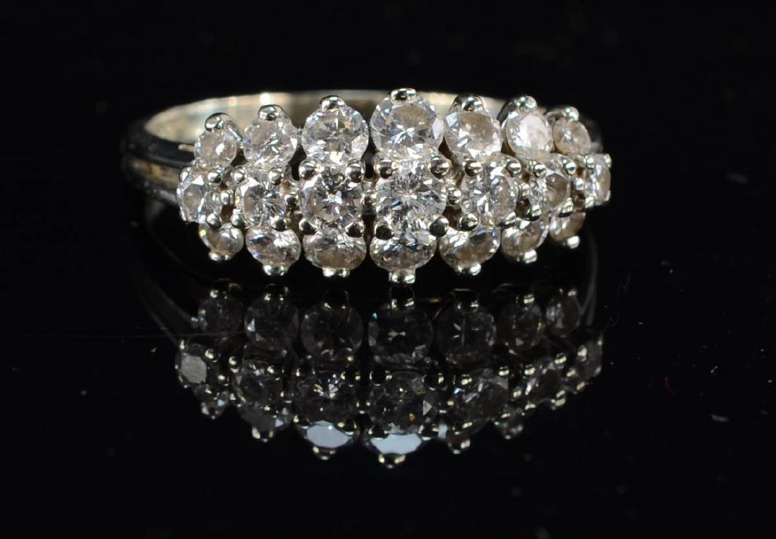 Ladies 14K Diamond Cocktail Ring