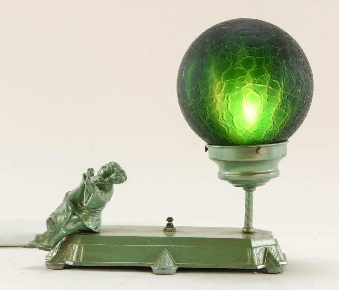 Art Deco Figural Harlequin Lamp