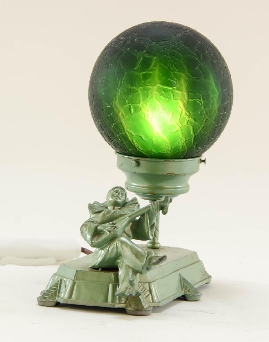Art Deco Figural Harlequin Lamp - 2