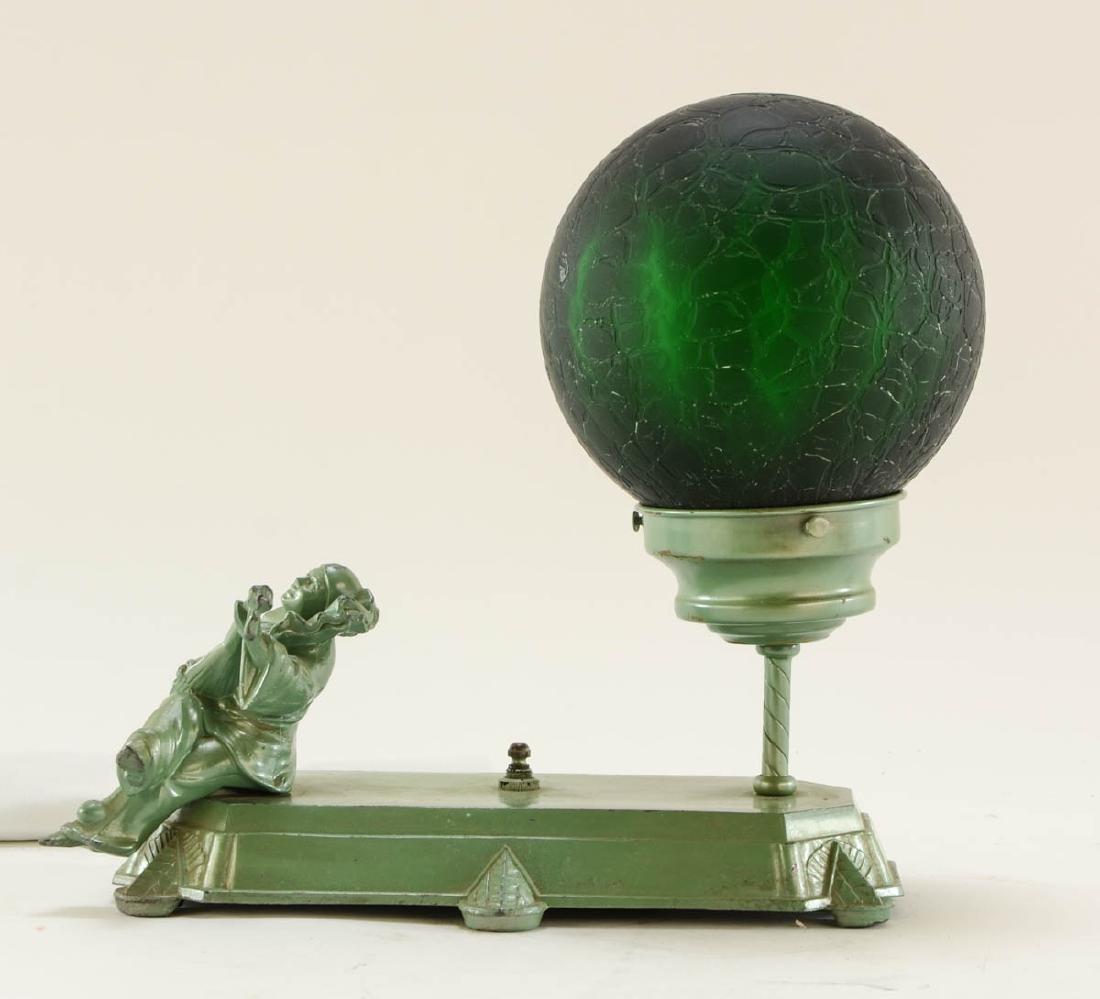 Art Deco Figural Harlequin Lamp - 3