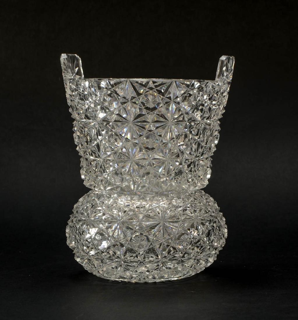 American Brilliant Cut Glass Ice Bucket