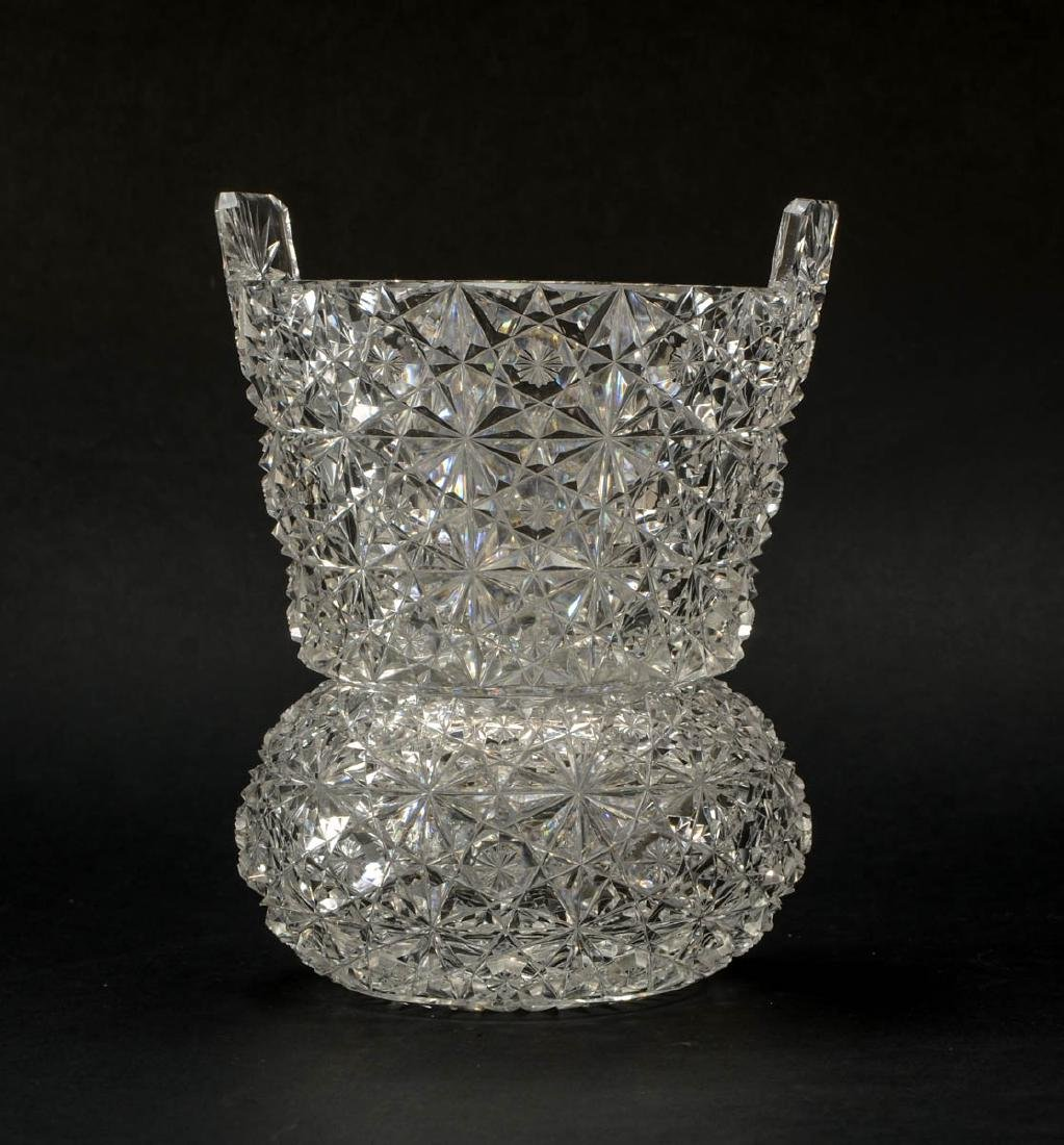 American Brilliant Cut Glass Ice Bucket