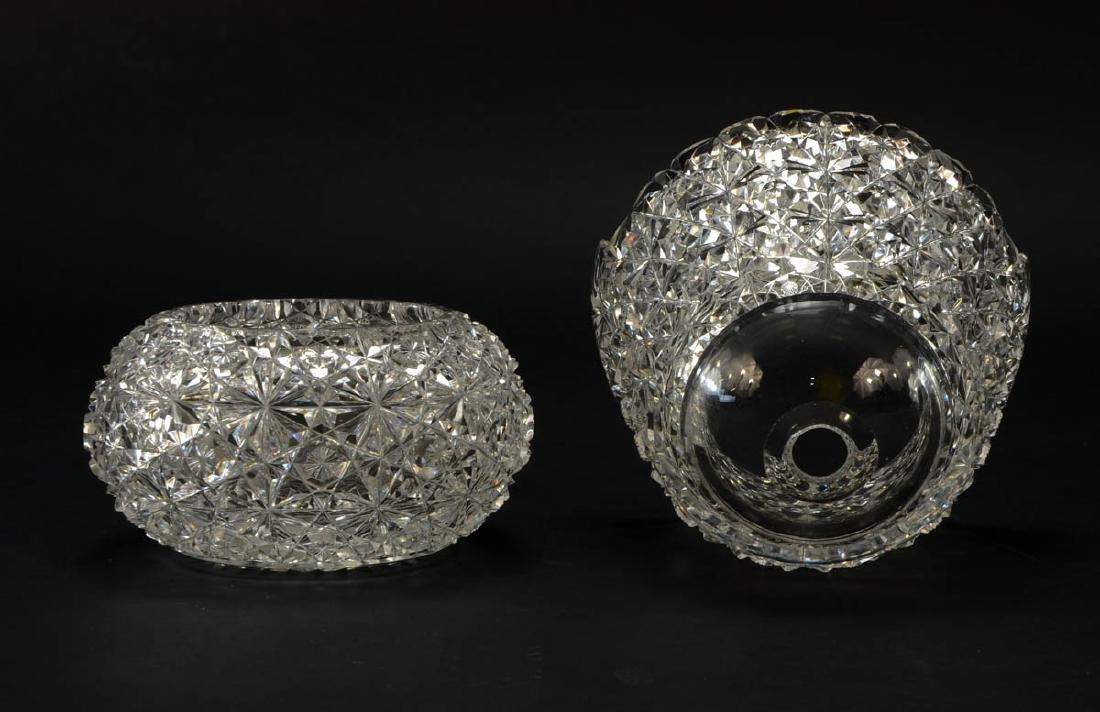 American Brilliant Cut Glass Ice Bucket - 3