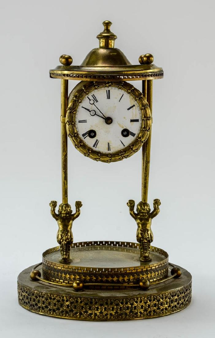 French Glass Dome Mantle Clock - 2