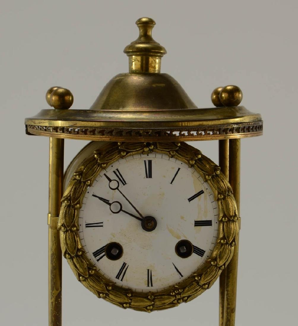 French Glass Dome Mantle Clock - 3